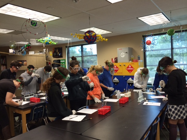 Chemistry class NASA program introduced  2014 spring 2