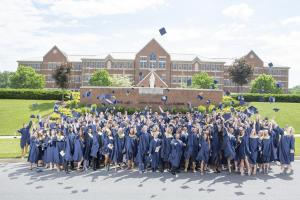 Cap Toss Graduation